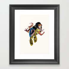 Flexing Dog Framed Art Print
