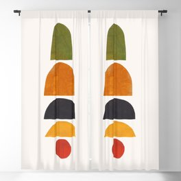 'Seasons Aligned' by Ejaaz Haniff Minimalist Minimal Colorful Paper Collage Shapes Pattern Mid Century Retro Vintage Style Blackout Curtain