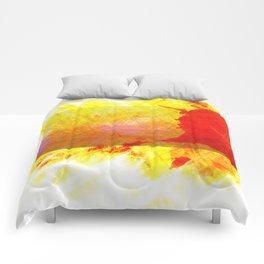 Tubular Red Comforters