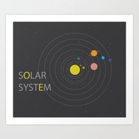 solar system Art Prints featuring Solar System by Loaded Light Photography