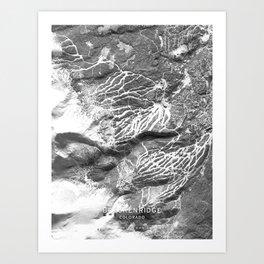 Breckenridge 3D Map Art Print
