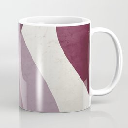 Contemporary Textured Abstract Shapes in Mulberry, Musk Mauve and Ivory  Coffee Mug