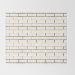 Gold Subway Tiles Throw Blanket