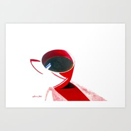 Lipstick Coffee Art Print
