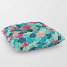 Petals (Aqua Red) Floor Pillow