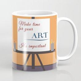 Make Time For Art (Colorful Calligraphy) Coffee Mug