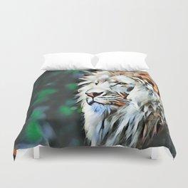 The lion jungle Duvet Cover