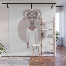 aries astro portrait Wall Mural