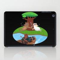 marijuana iPad Cases featuring Wolf lamb marijuana by gunberk