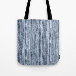 Blue Watercolor Wood Grain Stripe Tote Bag