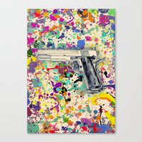 gun Canvas Prints featuring Gun by Maressa Andrioli