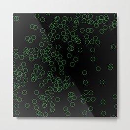 Green Circle Background Metal Print