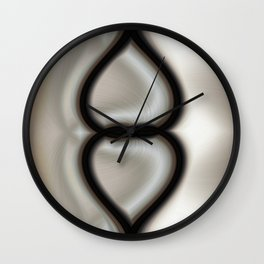Linked Hearts Wall Clock