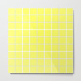 Yellow cube Metal Print