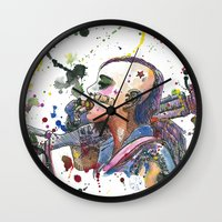 tank girl Wall Clocks featuring Tank Girl by Abominable Ink by Fazooli