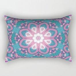 Flower Mandala in pastel Rectangular Pillow