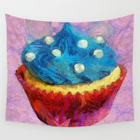cupcake Wall Tapestries featuring Cupcake by A.Aenska-Cholpanova