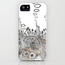 """Brown"" illustration iPhone Case"
