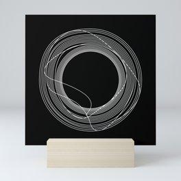 White Tangled Circles Mini Art Print