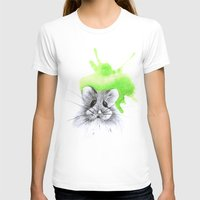 hamster T-shirts featuring green hamster by Konstantina Louka