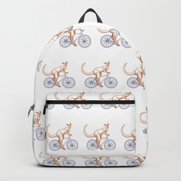 Kangaroo on a bike Backpack