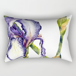 Violet Iris Rectangular Pillow