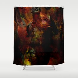 The last hour of Pompei Shower Curtain