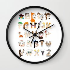 P&F Alphabet Wall Clock