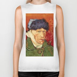 Vincent van Gogh Self-portrait with Bandaged Ear and Pipe Biker Tank