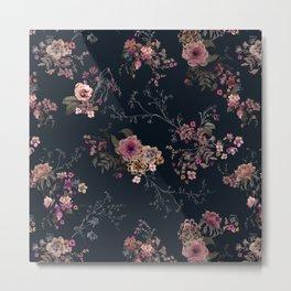 Japanese Boho Floral Metal Print
