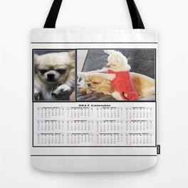 Gremlin Chihuahua and Funny Chihuahuas Calendar 2017 Tote Bag