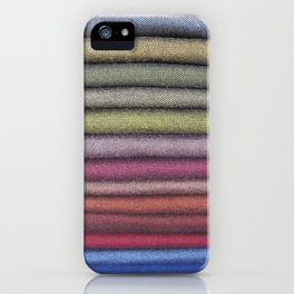 Fabric Rainbow iPhone Case