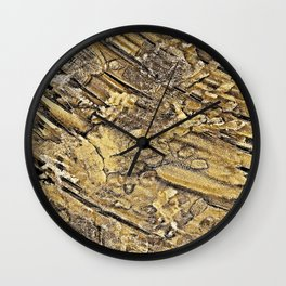 Baby Handprints in Gold and Black Wall Clock