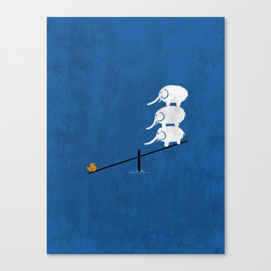 No balance Canvas Print