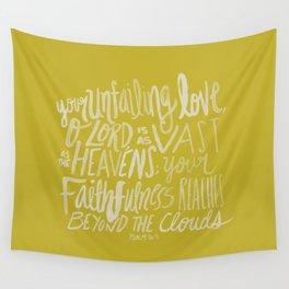Psalm 36: 5 x Mustard Wall Tapestry