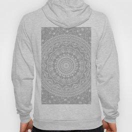 Secret garden mandala in soft gray Hoody
