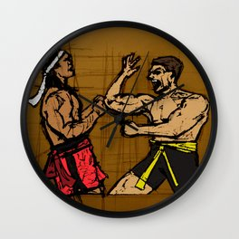 you fought with inspiration Wall Clock