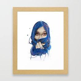 Unspoken Smile Framed Art Print