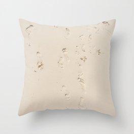 Sand foot Throw Pillow