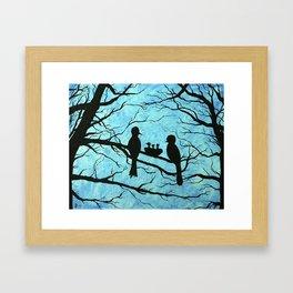 Family of Birds in the Tree Nest Framed Art Print
