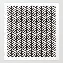 Tribal herringbone black and white by hellcom