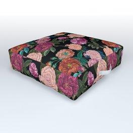 Moody Rose Garden Outdoor Floor Cushion