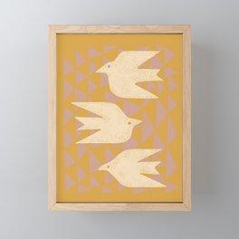 Doves In Flight Framed Mini Art Print