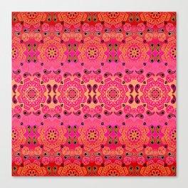 Pink Haze Bandana Ombre' Stripe Canvas Print