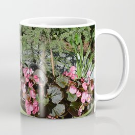 Sun kissed Garden Angel and Begonias Coffee Mug