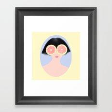 CITRUS & GIRL Framed Art Print