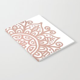 Rose Gold Floral Mandala Notebook