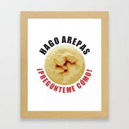 Hago Arepas Framed Art Print