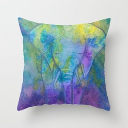 Galaxyphant Throw Pillow