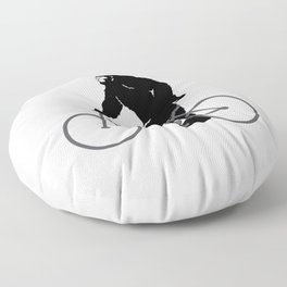 Bigfoot  riding bicycle Floor Pillow